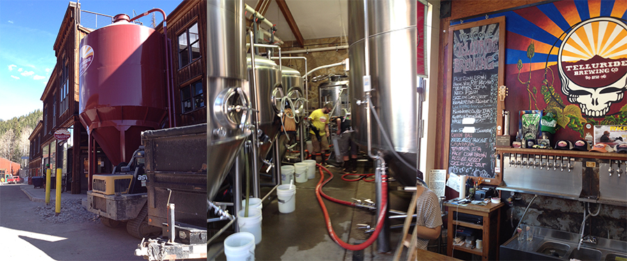 A few pics of the Telluride Brewing Co. - About 45 minutes from Ridgway (where the course took place).  A highly efficient use of space.