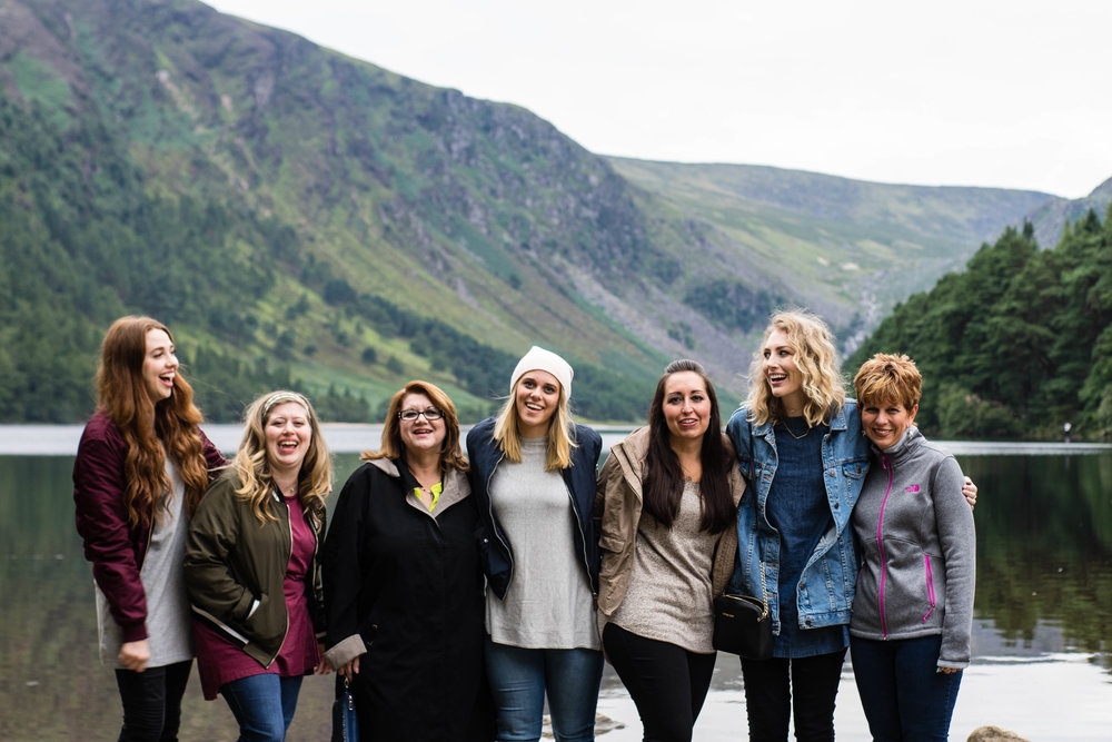 All the girls at Glendalough Lake