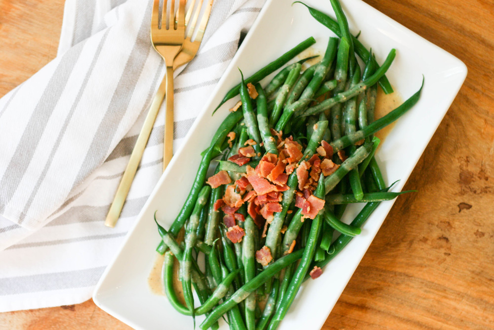 green bean and bacon salad magnolia thymes