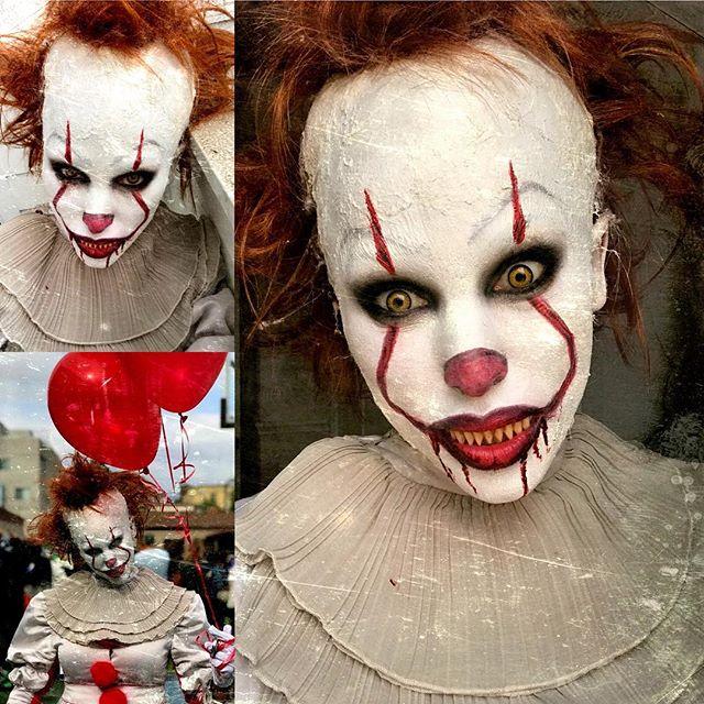 Ready to to scare lots of kiddies 🤡👻🎃 #Halloween #halloweenmakeup #pennywise #pennywisemakeup #mua #mommyblogger #lifestyleblogger #halloween2017 #beautyexpert