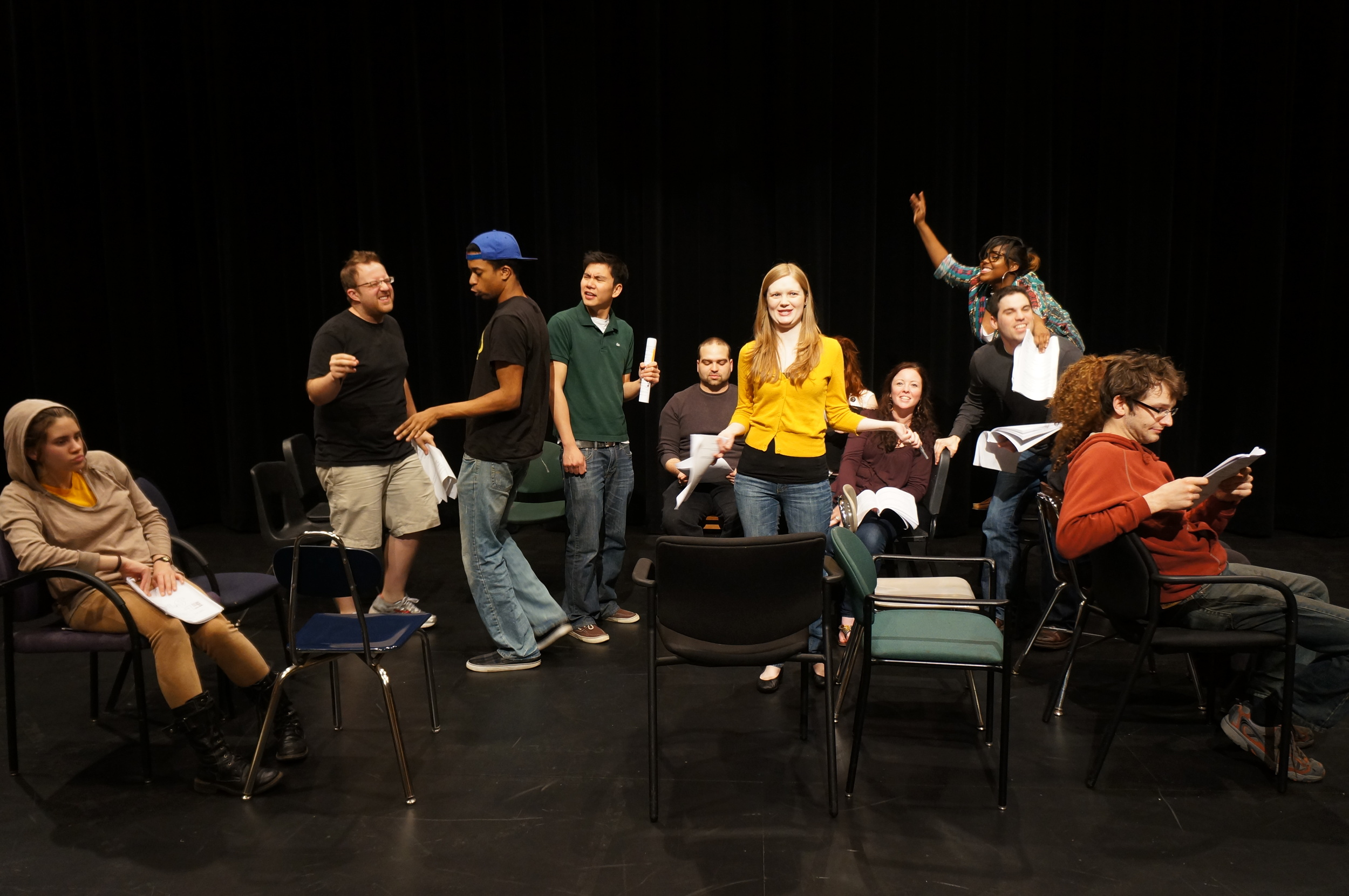 'EL Stories' cast in rehearsal for our newest run debuting June 2