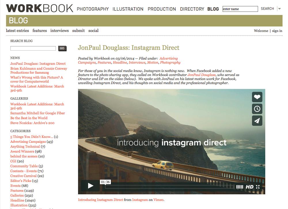 Workbook Instagram Direct