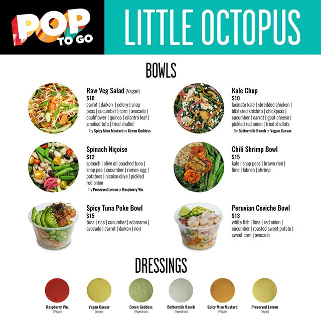 WE ARE BACK....starting tonight at 5pm we will be offering a special @lttleoctopus menu at @popnashville. Keeping with the LO ethos of #feelgoodfoodandrink. Simply order online (link in profile) for pick-up or delivery! #poptogo #greatfood