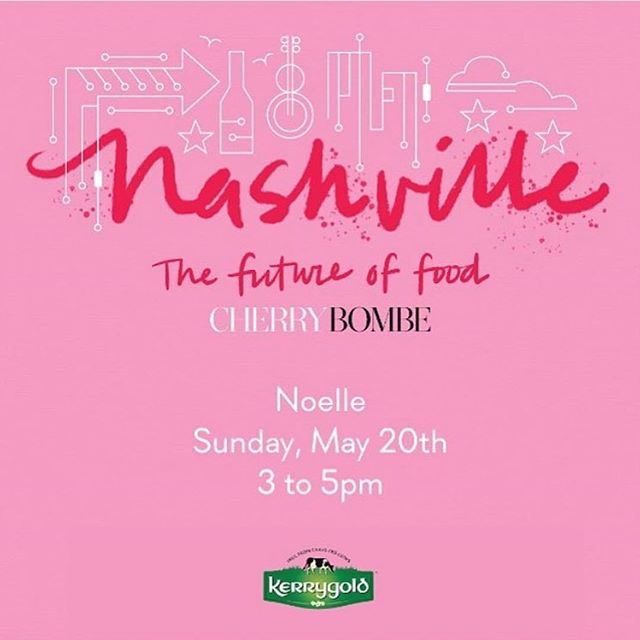 "If you want to hear some incredible women in Nashville talk about the future of food and why it matters to Nashville - then get your ticket and join us tomorrow!  #Repost @the_callaway ・・・ We're thrilled to be supporting our good friends at Cherry Bombe magazine as they make their maiden voyage to Nashville later this month. Featuring a conversation between Team CB and a powerful team of local female chefs and food thought leaders, ""The Future of Food"" is being held at Noelle and will feature a live taping of Radio Cherry Bombe. Tickets are bound to go fast, so click on our link to get yours tout suite! @cherrybombemag @noelle_nashville #callawayclient"