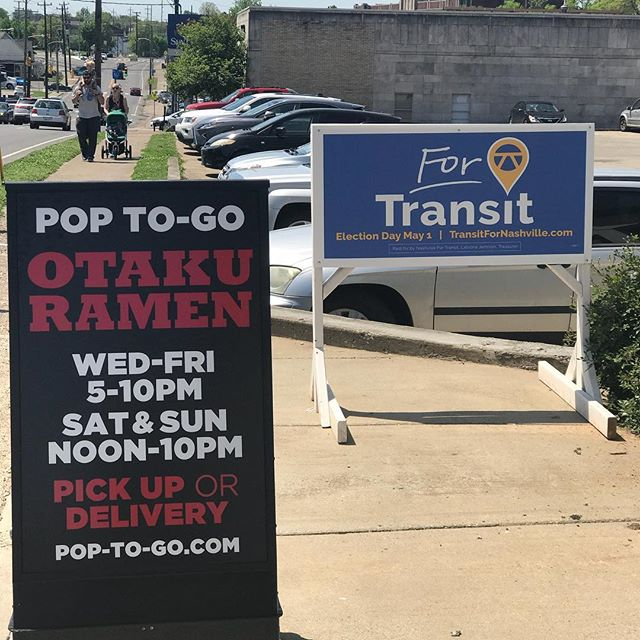 For RAMEN and TRANSIT.... remember we are open all day Saturdays and Sundays. And hey... DONT FORGET TO VOTE on May 1st. #ramen #nashvilletransit