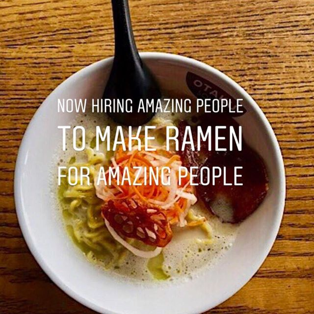 You heard it here. WINTER IS COMING - and we are bringing on more members of the team so we can serve ALLLLL the ramen. Come join the happiest ramen shop around. #otakuramen #makeramen. EMAIL your resume to sarah@popnashville.com