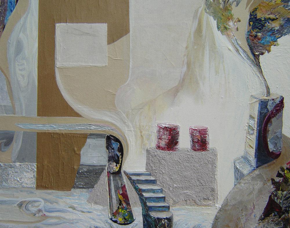 PLATFORMS - 23.5 x 29.25, mixed media on canvas