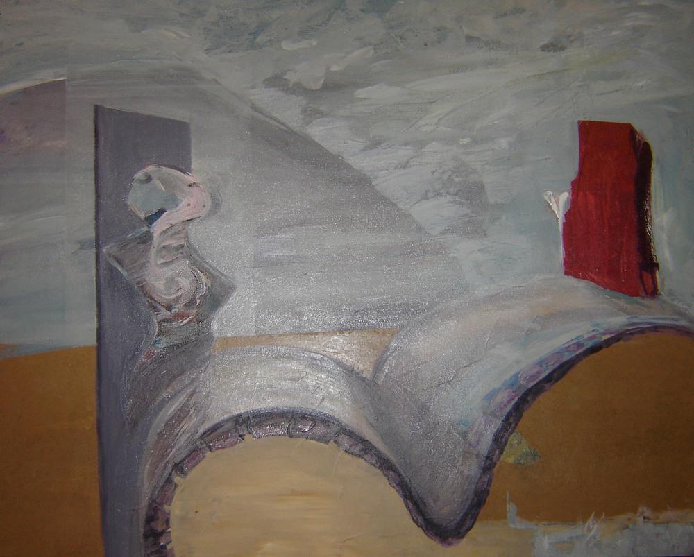 PATHS - 23.5 x 29.25, mixed media on canvas