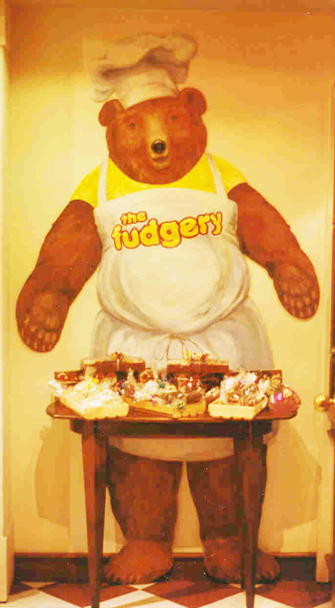 9 Designing of the new Fudgery Bear for the Fudgery at the Banff Springs Hotel.jpg
