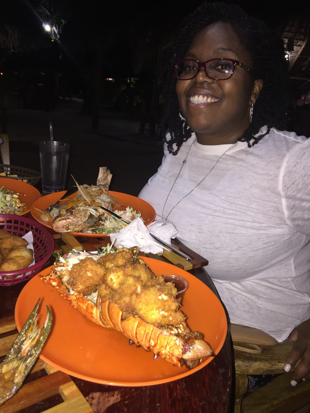 Dinner at the Chill Out Hut, Montego Bay