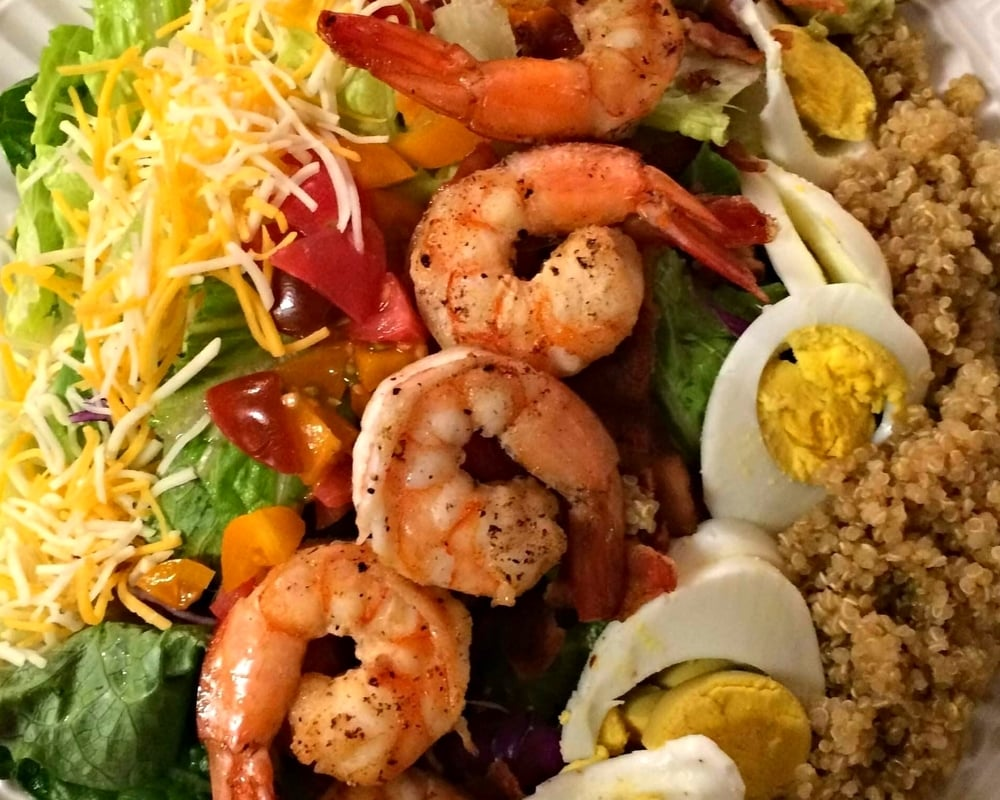 Shrimp & Quinoa Cobb Salad - tev Cooks 2016