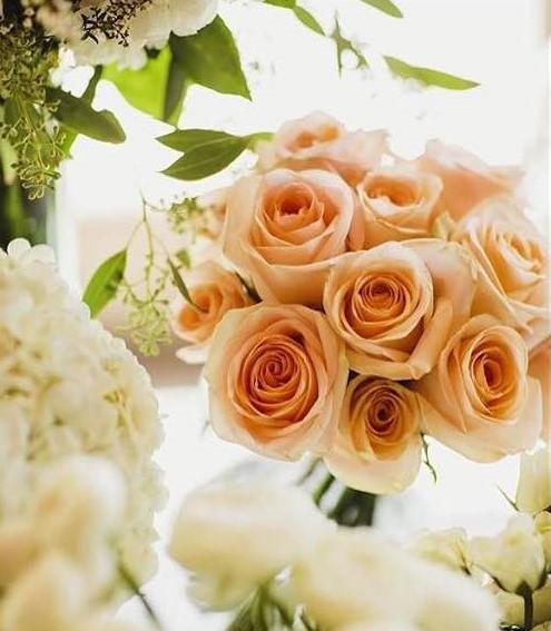 Peach Roses - Floral Designs by Sofie, Fort Lee NJ.jpg