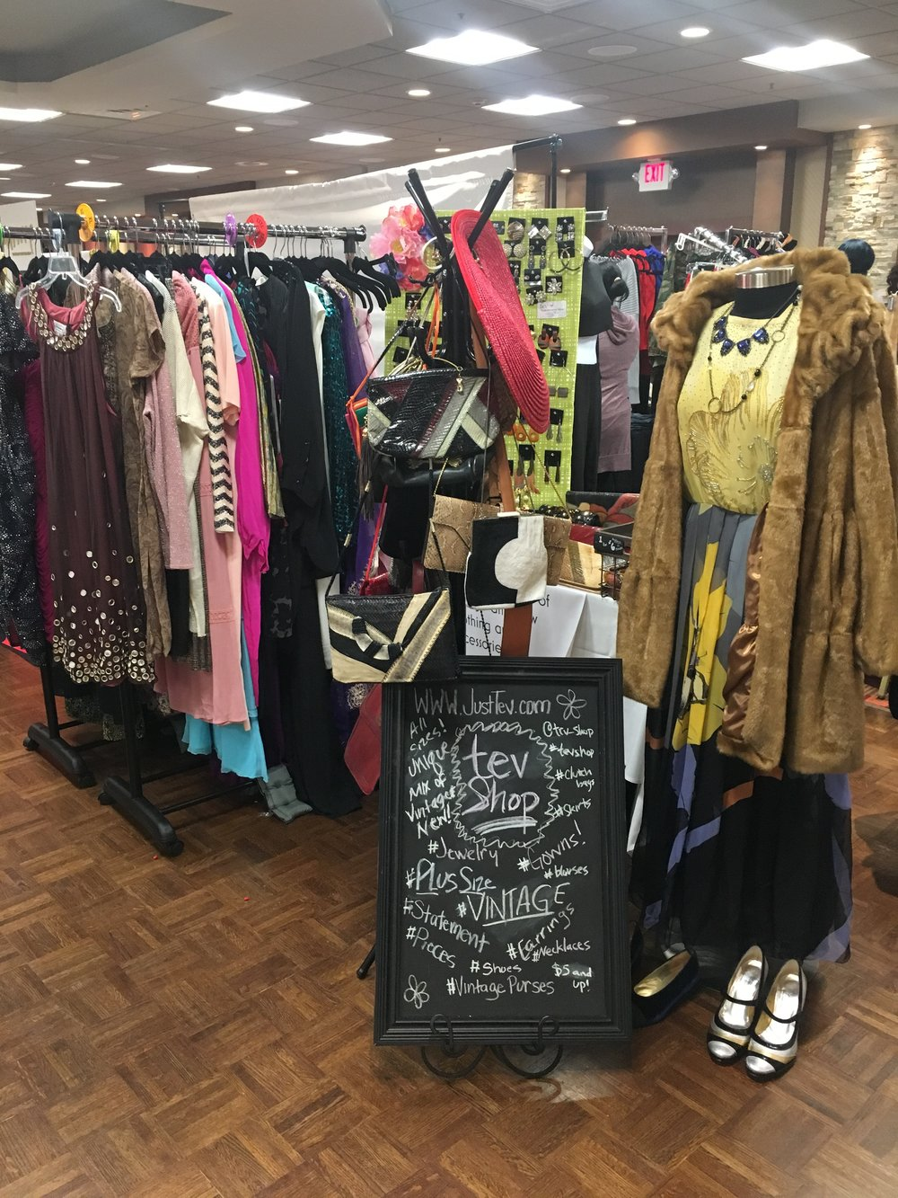 My beautiful booth! tevShop at Sistahs in Business expo - April 14, 2018