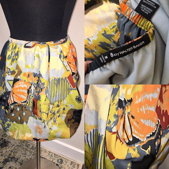 "NOW AVAILABLE: W118 by Walter Baker Abstract Mini Skirt, Size M. $22. Super cute floral skirt by W118 by Walter Baker, found in Saks and Nordstrom. Mini skirt is lined, has a drawstring. Feels like silk, but fabric is polyester. Small area with signs of wear, but not noticeable. Great floral skirt can be worn with a sweater and tights or with a tank and sandals! TO PURCHASE: Reply ""YES!"" below or click the #Poshmark link in bio. . . . #tevshop #walterbaker #w118 #w118bywalterbaker #skirt #abstractprint #miniskirt #bubbleskirt #fallfashion #shortskirt #datenight #cuteclothes #cuteskirt #poshmarkseller #poshmarkboutique #poshmarkcloset"