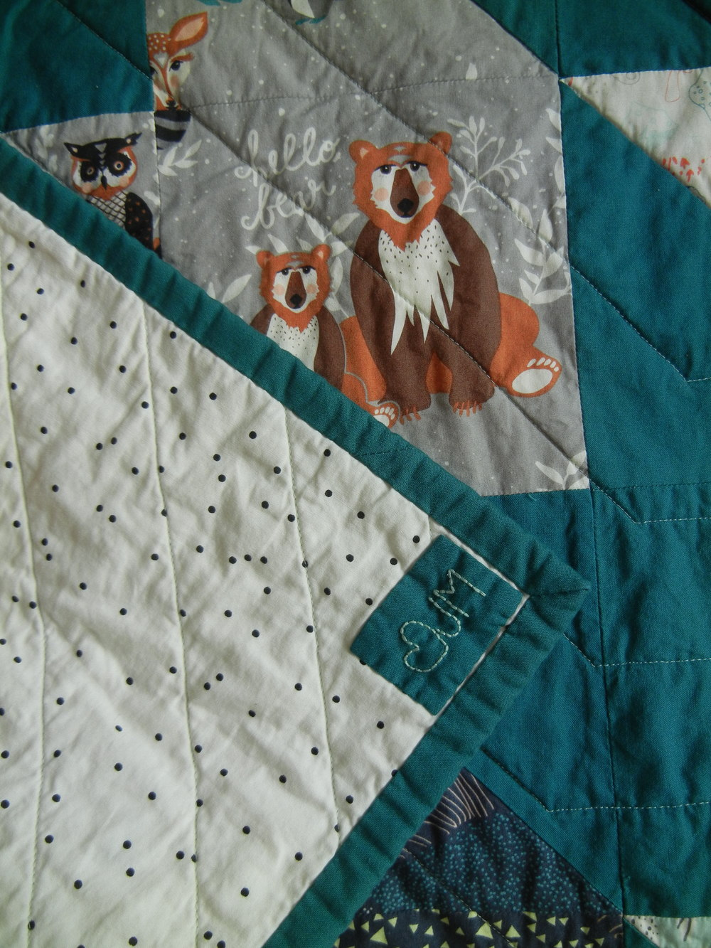 Hello Bear Baby Quilt