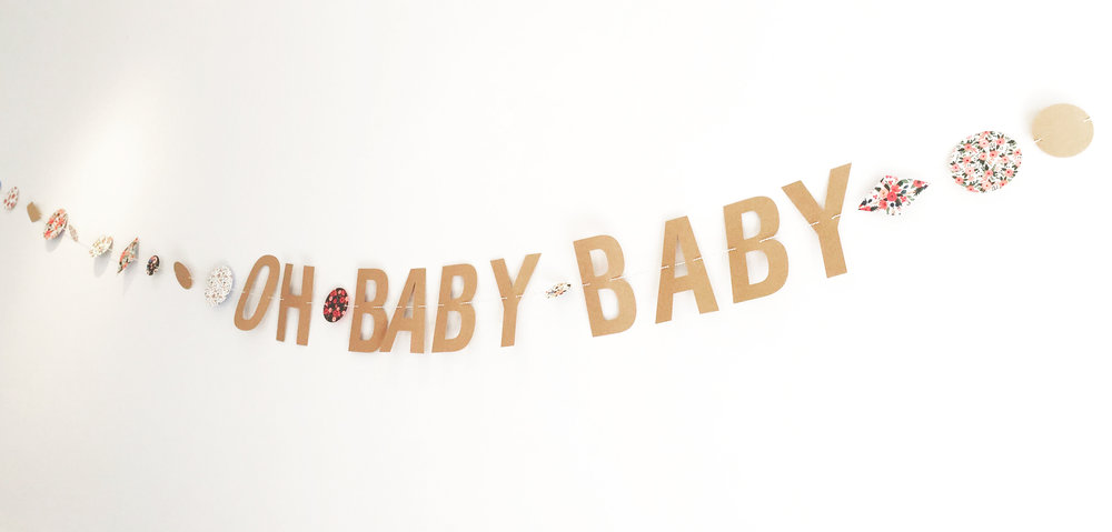 Oh baby baby shower garland $20