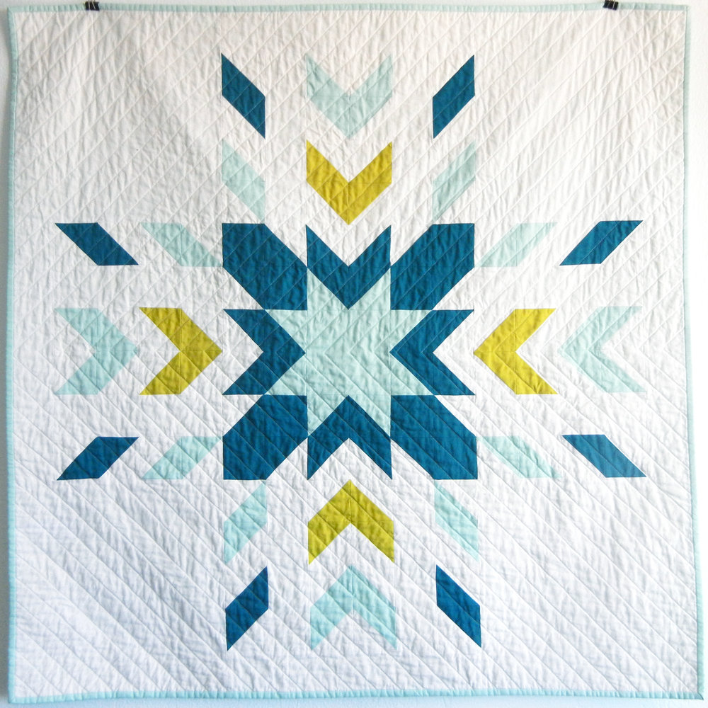 Glacier Heirloom Baby Quilt $250