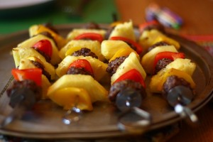 hawaiin meatball kabobs
