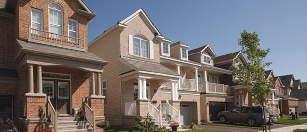A beautiful stretch of homes in Barrhaven (photo credit: Mattamy Homes)
