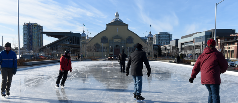 A beautiful outdoor rink at Lansdowne Park