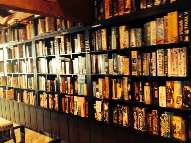 Shelves upon shelves of games