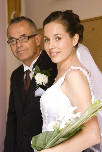 My Dad and I on my wedding day