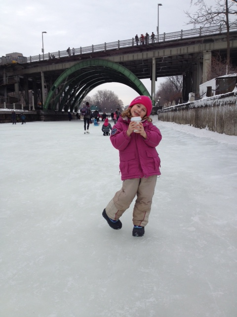 Walk-skating on the canal is totally acceptable!