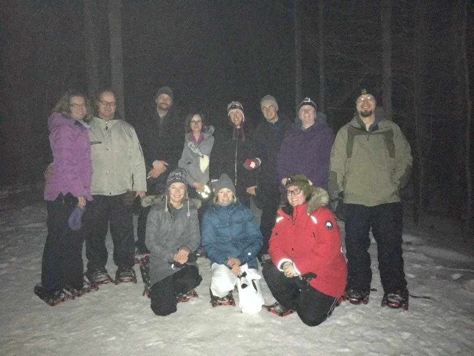 Our fantastic snowshoe team - Look hard and you'll recognize a bunch of our bloggers :)