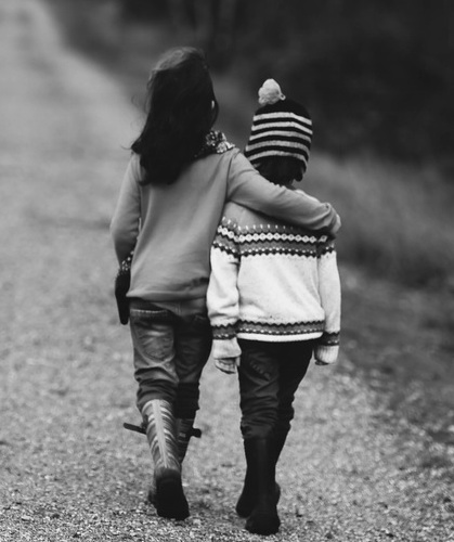child hugging