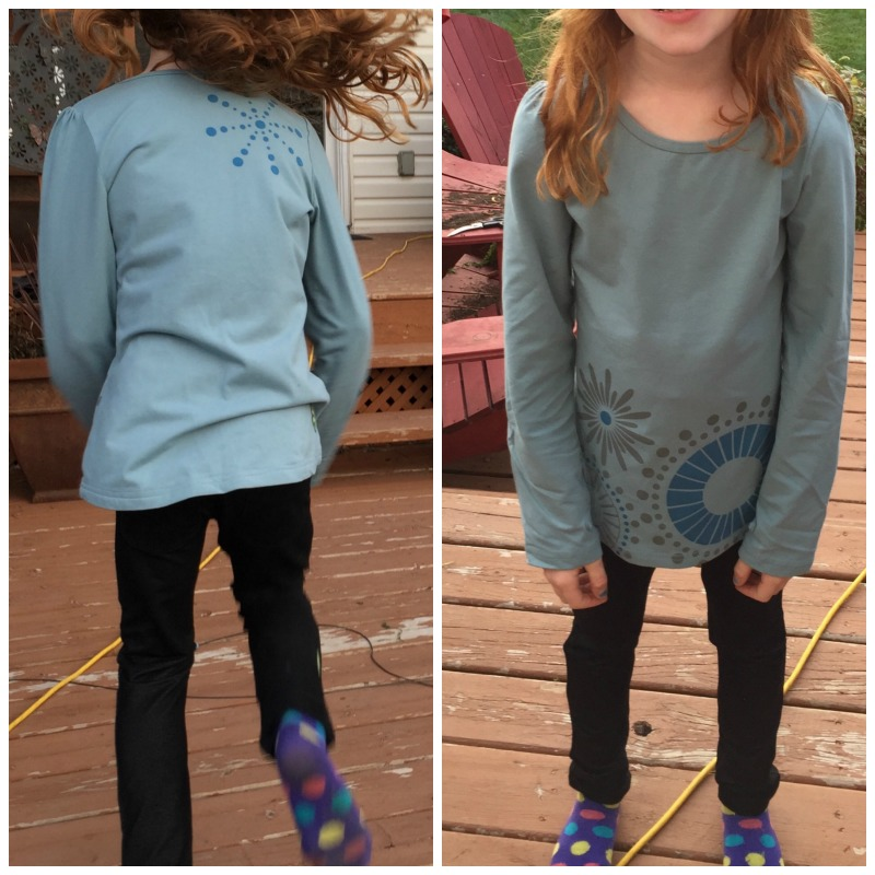 PEEKABOO BEANS HIP HIP HOORAY TEE IN STERLING AND JUMP 'N JEGGINGS
