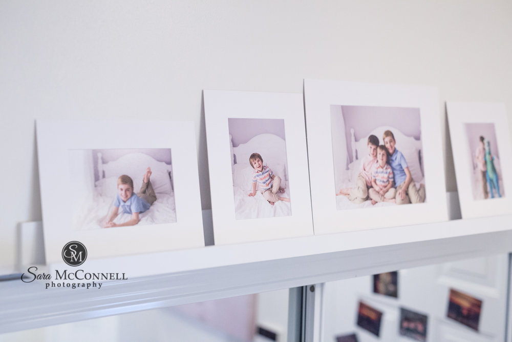Photo ledges for family photos