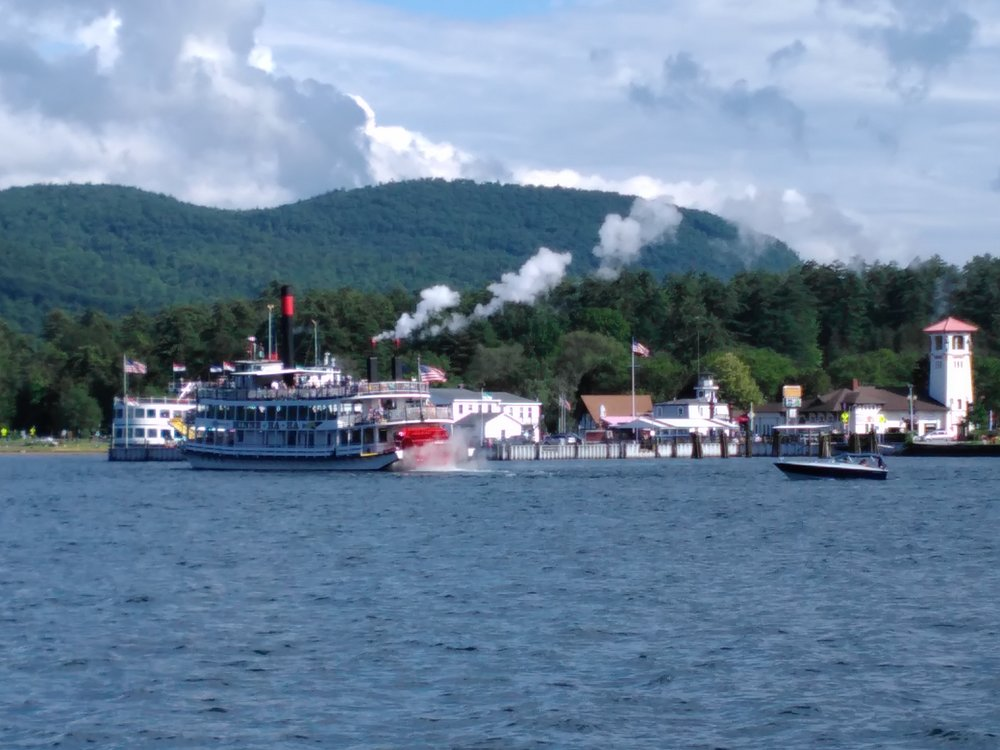 Minnie-Ha-Ha Paddlewheeler on Lake George