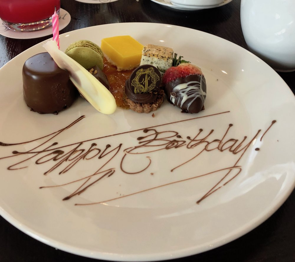 Celebrating a birthday at high tea Chateau Laurier