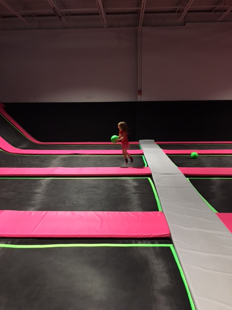 Flying squirrel trampoline park