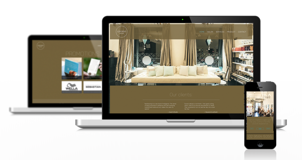 Branding, web site design, domain management, photography, web site build, deploy,content management setup.   www.cocoonhair.com.au