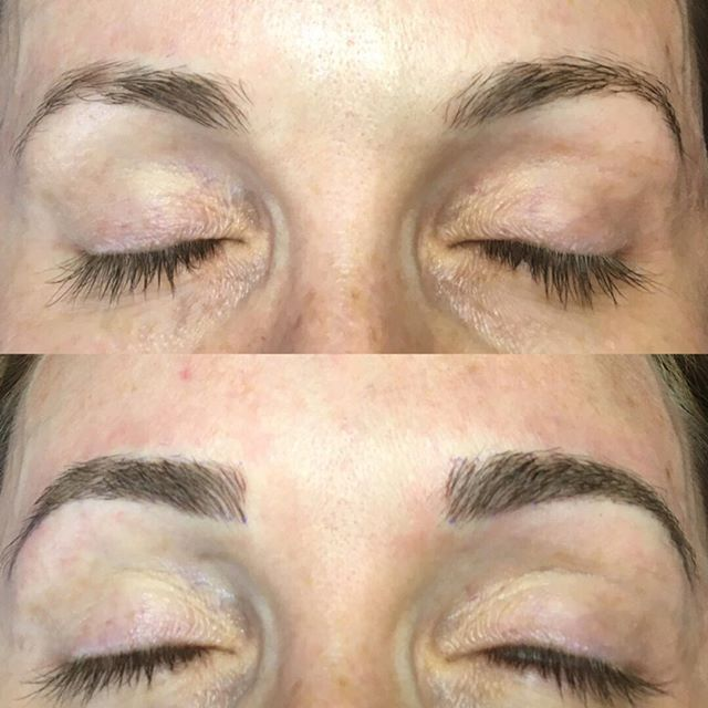 Added some structure and fullness,keeping it soft and natural. #softap #microblading