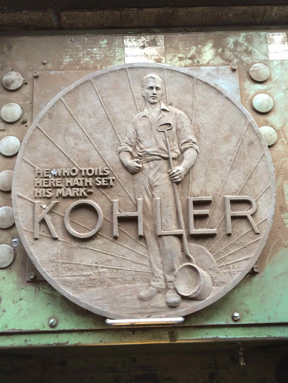 Plaque in Kohler Co.'s Foundry