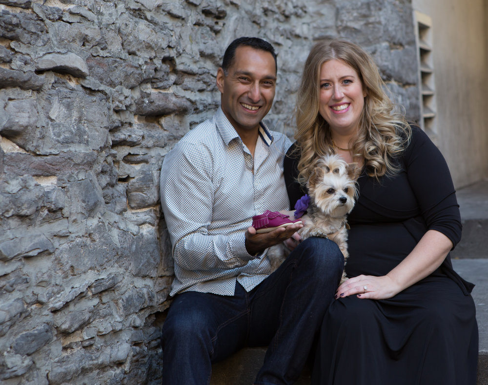 This couple is announcing the the gender of their soon to be baby girl and of course they had to include Diva their adorable puppy :-)