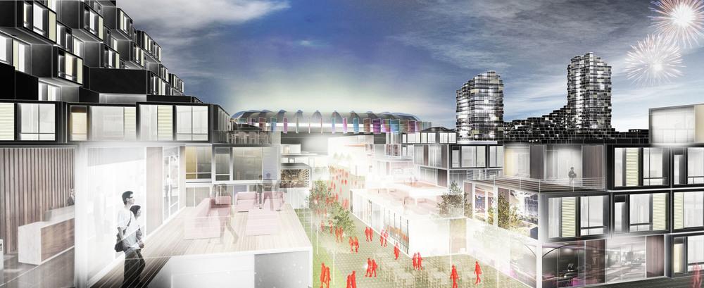 Beijing Olympic Park South Master Plan - Night Render.jpg