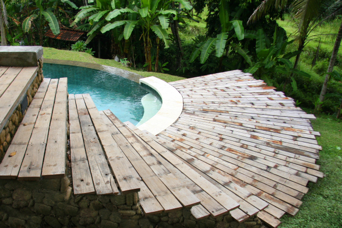 Swimming Pool Exterior Decking