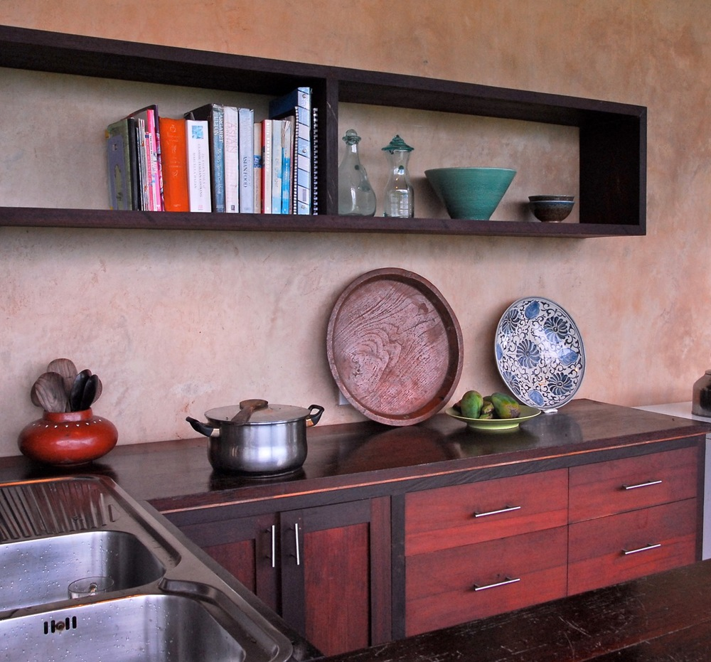 Kitchen countertop and its cabinet