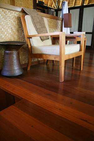 Hardwood flooring with finishing