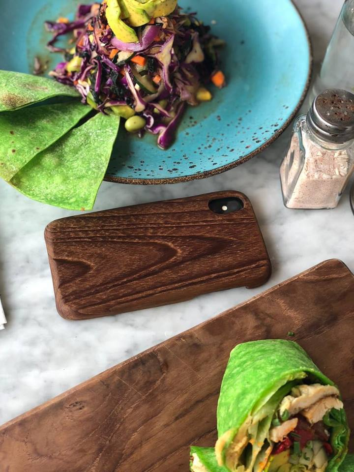 Reclaim teak custom phone cover for Iphone X - Kaltimber work