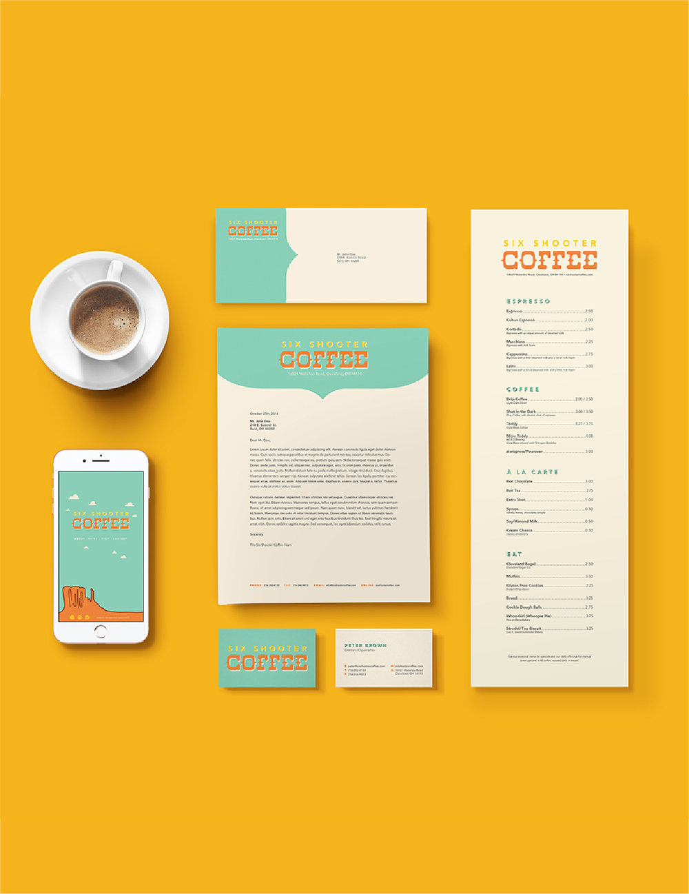 SIX SHOOTER COFFEE BRANDING