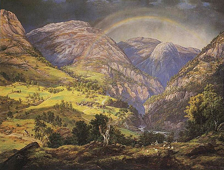 View from Stalheim, Dahl, Norway, 1842