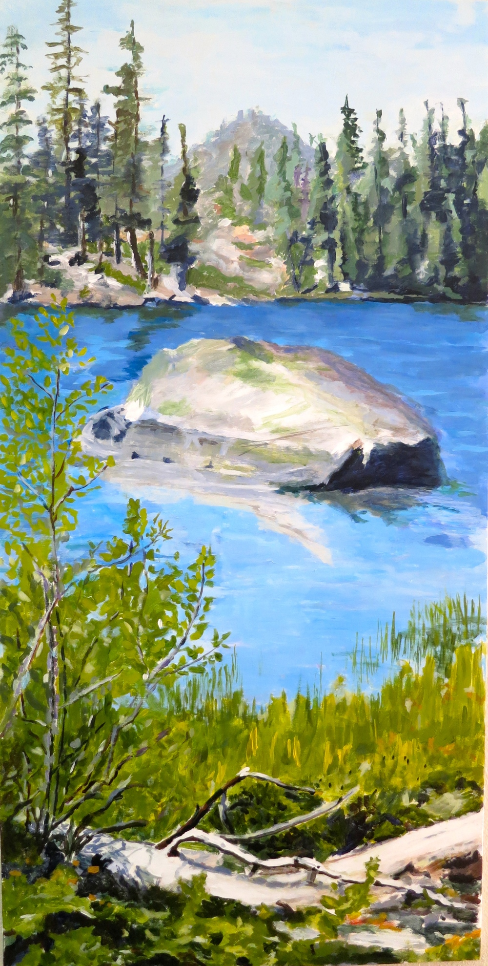 "Ralston Lake, Oil on Plywood 24"" x 60"""
