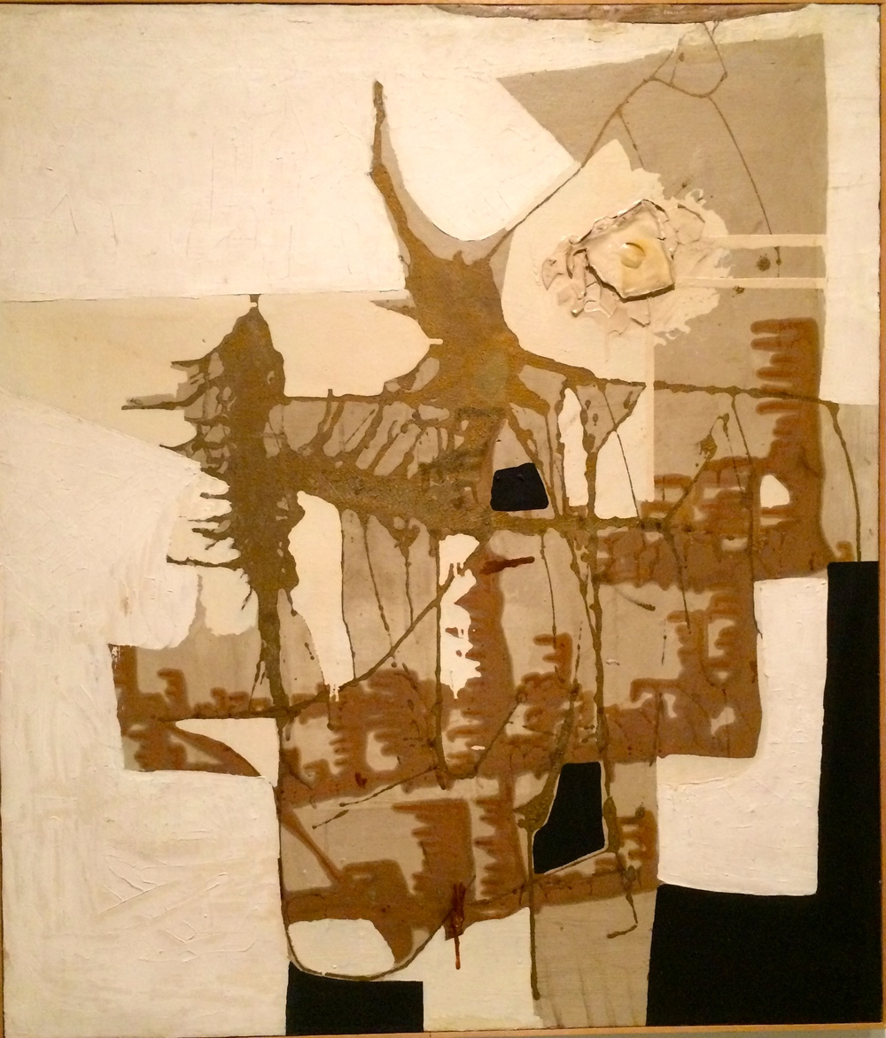 Alberto Burri--textile and paint at Guggenheim Museum