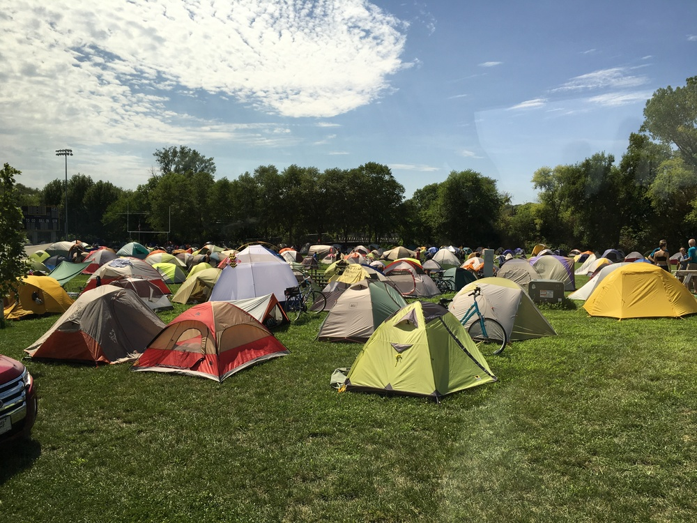 just a few of the MANY tents