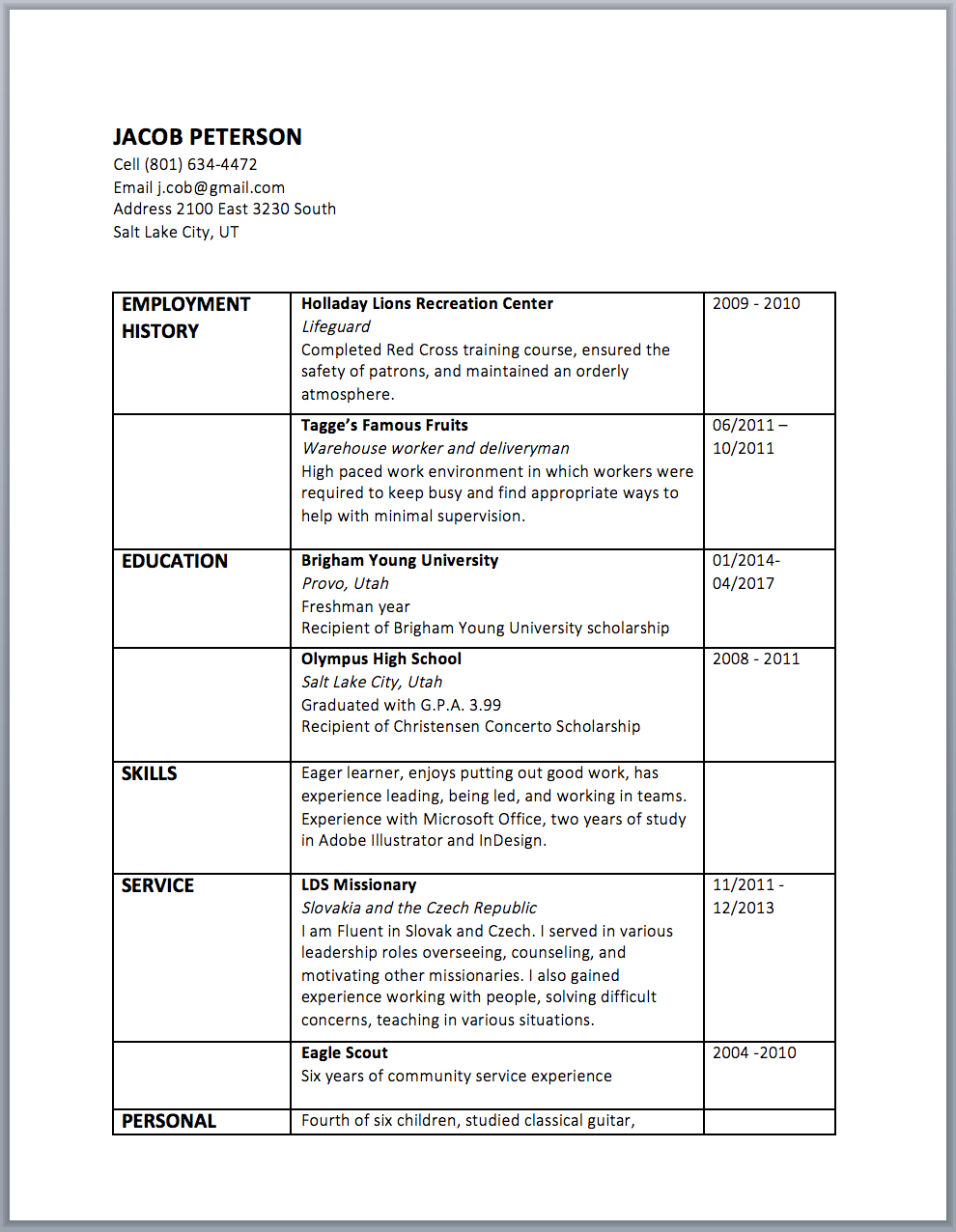 How To: Design a Resume in Microsoft Word (And Other Design Tips ...