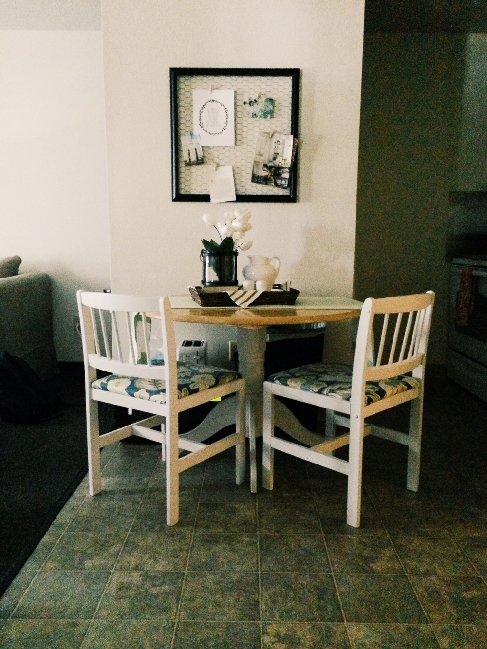 Cob refinished this table for me while we were engaged and it is one of my favorite things. <3